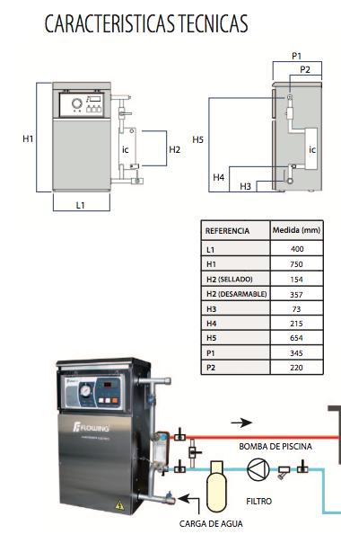 Climadesign climatizador de piscinas electrico flowing for Albercas desarmables