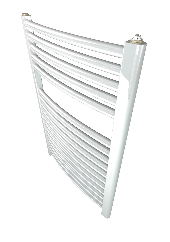 Climadesign toallero 800 500 blanco acero inoxidable for Toallero acero inoxidable